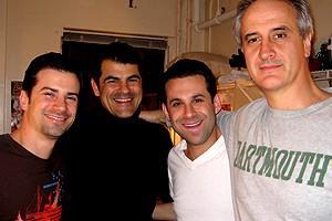 Photo Op - Holidays at Jersey Boys - Dominic Nolfi - Peter Gregus - Eric Gutman - Mark Lotito