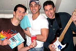 Photo Op - Holidays at Jersey Boys - Dominic Nolfi - Eric Schneider - John Leone
