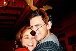 Photo Op - Holidays at Jersey Boys - Erica Piccininni - Daniel Reichard