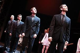Daniel Reichard's final performance in Jersey Boys - Christian Hoff - Michael Longoria - Daniel Reichard - J. Robert Spencer - 3