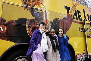 Disney Bus - Ashley Brown - Tshidi Manye - Sierra Boggess