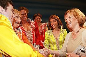 Frida at Mamma Mia - Christopher Shyer - Judy McLane - Pearce Bunting - Gina Ferrall - Heidi Godt - Frida