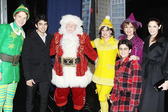 Backstage at Elf with Joe Jonas – Sebastian Arcelus – Joe Jonas – George Wendt – Amy Spanger – Matthew Gumley - Beth Leavel - Ashley Greene