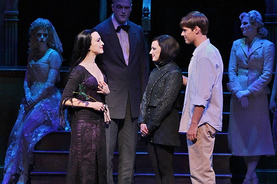 Show Photos - The Addams Family - Bebe Neuwirth - Zachary James - Rachel Potter - Jesse Swenson