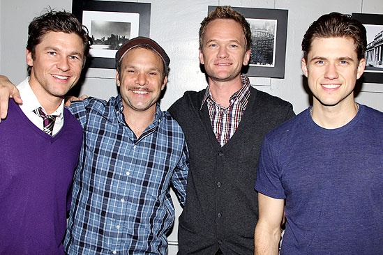 Neil Patrick Harris at <i>Catch Me If You Can</i> - David Burtka – Norbert Leo Butz – Neil Patrick Harris – Aaron Tveit