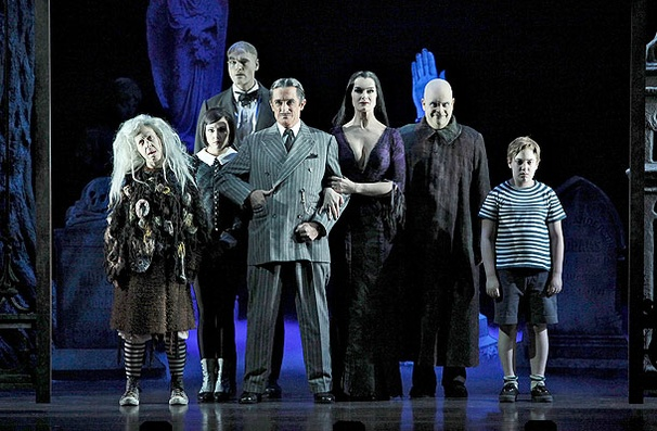 Show Photos - The Addams Family - Jackie Hoffman - Rachel Potter - Zachary James - Roger Rees - Brooke Shields - Brad Osacr - Adam Riegler
