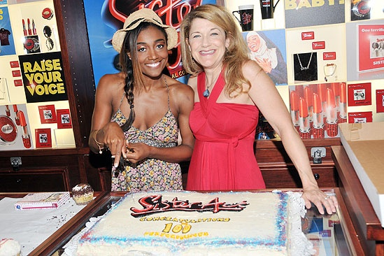 Sister Act 100th performance – Patina Miller – Victoria Clark