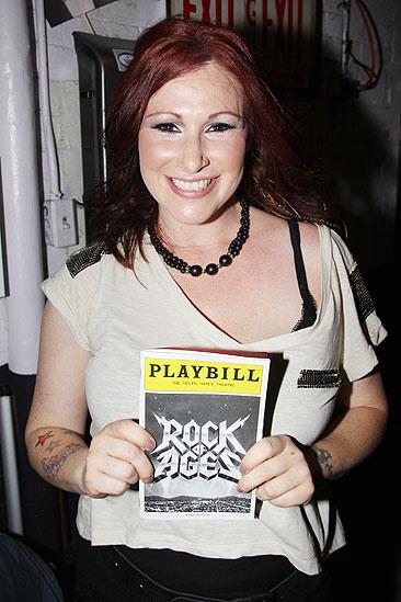 Tiffany at <i>Rock of Ages</i> - Tiffany and <i>Rock of Ages</i> playbill