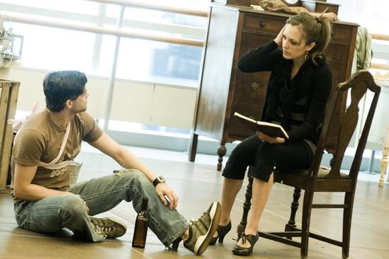 <i>Bonnie & Clyde</i> Rehearsal -  Jeremy Jordan – Laura Osnes