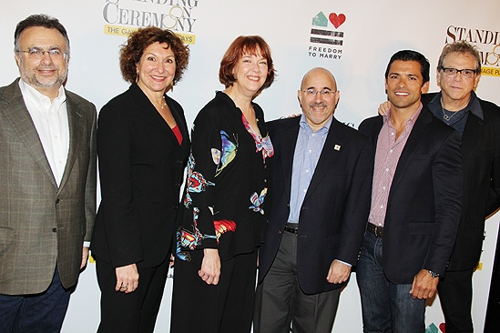 Standing Ceremony meet – Stuart Ross – Joan Stein – Harriet Harris - Evan Wolfson – Mark Consuelos – Moises Kaufman