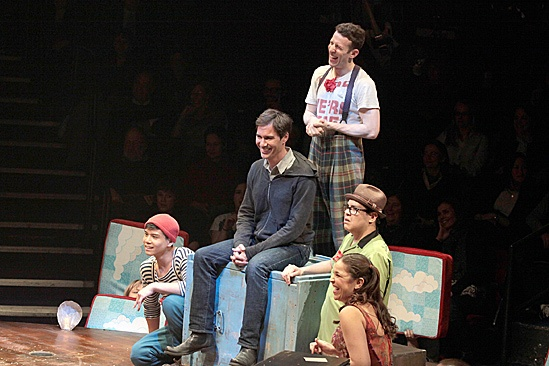 Eric McCormack Joins Godspell Onstage – Eric McCormack onstage with the cast