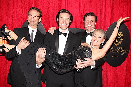 End of the Rainbow- Opening- Jay Russell, Tom Pelphrey, Tracie Bennett and Michael Cumpsty