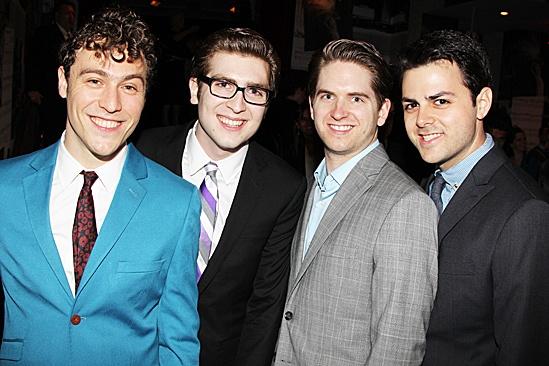 One Man, Two Guvnors opening night – Jason Rabinowitz – Charlie Rosen – Austin Moorhead – Jacob Colin Cohen