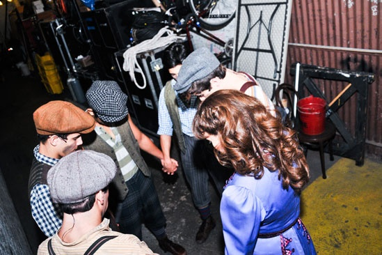 Photo Exclusive Birthday Parties Costume Changes More Backstage Fun At Newsies