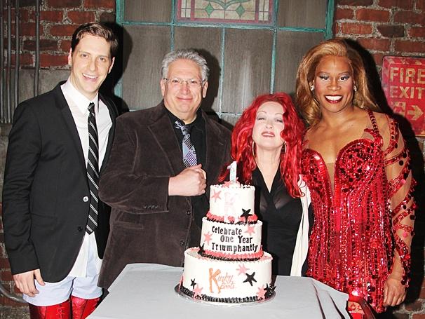 Kinky Boots - One Year Anniversary - OP - 4/14 - Andy Kelso - Harvey Fierstein - Cyndi Lauper - Billy Porter