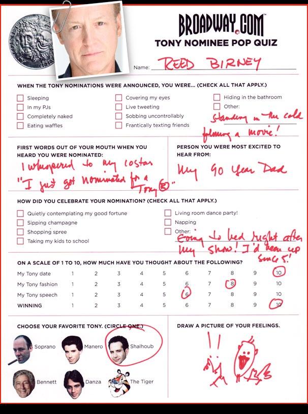 Tony Nominee Pop Quiz - Reed Birney