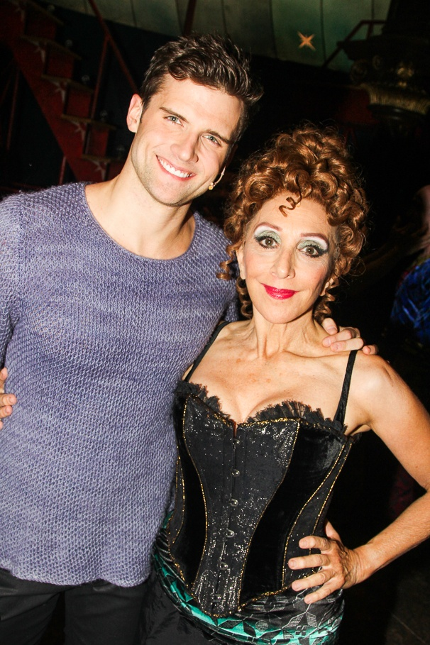 Pippin - Tour - Backstage - 11/14 - Kyle Dean Massey -  Andrea Martin