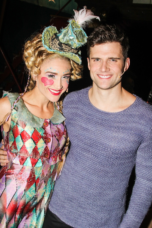 Pippin - Tour - Backstage - 11/14 -  Kristine Reese - Kyle Dean Massey