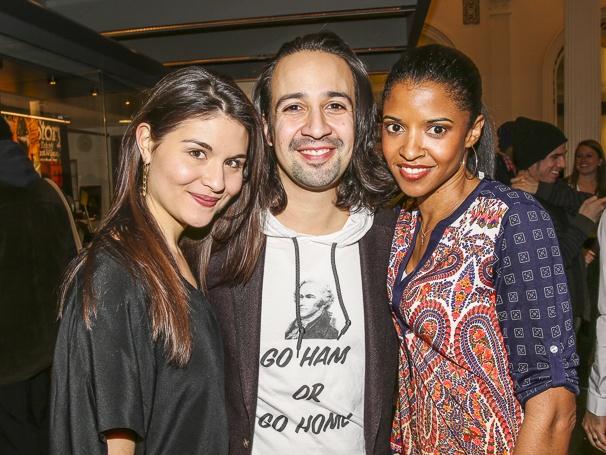Hamilton - Broadway annoucement - 2/15 - Phillipa Soo - Lin-Manuel Miranda - Renee Elise Goldsberry
