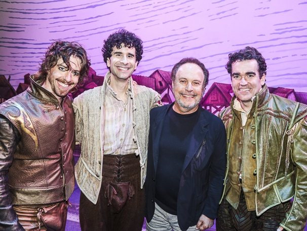 Something Rotten! - Backstage - 6/15 -  Christian Borle, John Cariani and Brian d'Arcy James - Billy Crystal
