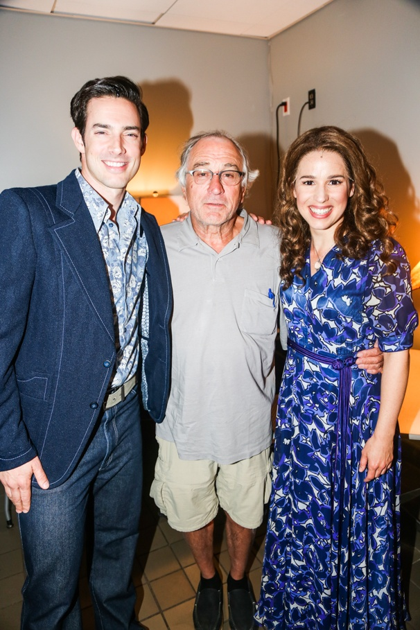 Beautiful: The Carole King Musical - backstage - Robert DeNiro -  - 9/15 - Scott J. Campbell, Robert DeNiro and Chilina Kennedy