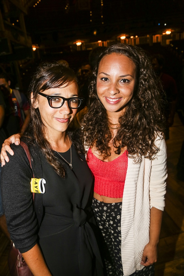 Hamilton - backstage - 8/15 - Rashida Jones and Jasmine Cephas Jones