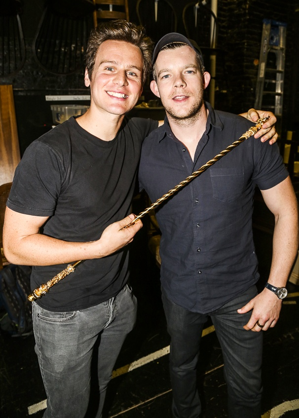 Hamilton - backstage - 10/15 -  Jonathan Groff and Russell Tovey