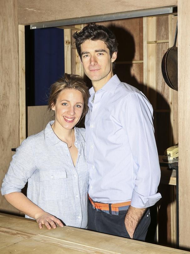 Waitress - Media Day - 3/16 - Jessie Mueller and Drew Gehling
