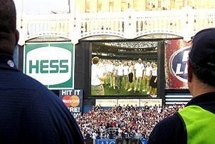 Jersey Boys at Yankee Stadium - Jumbotron