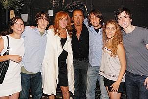 Bruce Springsteen at Spring Awakening - Bruce Springsteen - wife Patti - daughter Jessica - son Sam - son Evan - Eryn Murman - Matt Doyle