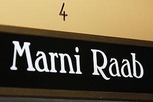 Marni Raab in Phantom of the Opera - name on door