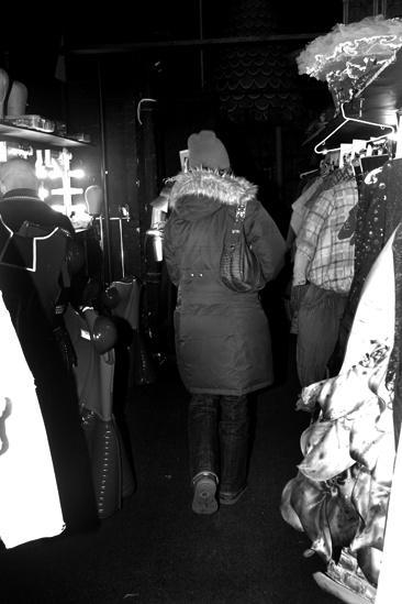 Sutton Foster backstage at Shrek – walking in