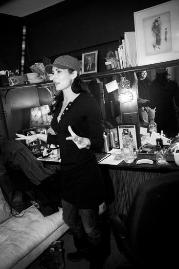 Laura Benanti Backstage at Gypsy – talking