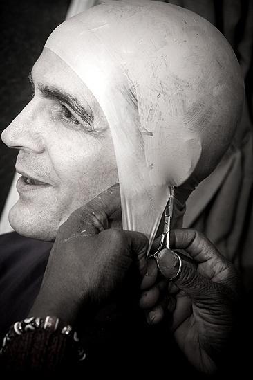 Howard McGillin Phantom transformation – wig cap snip