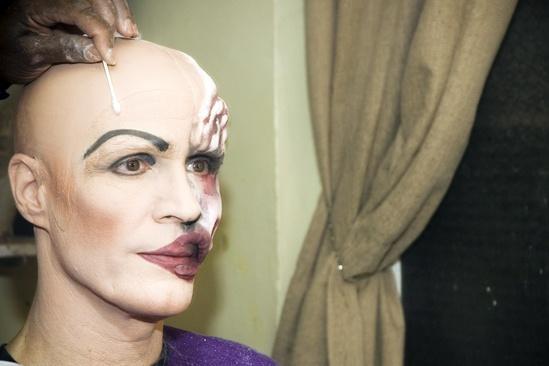 Howard McGillin Phantom transformation – more makeup3