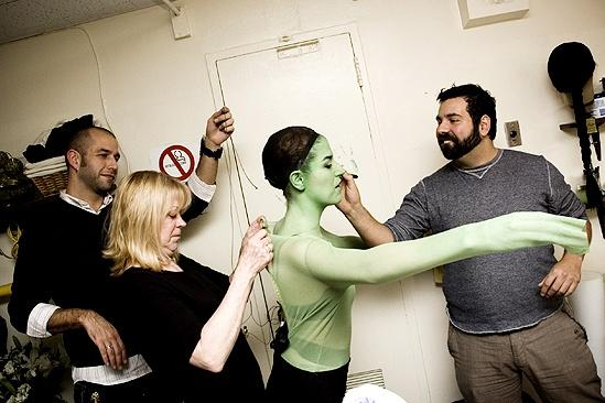 Nicole Parker Backstage at Wicked – bodysuit