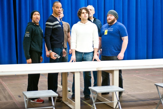 In Rehearsal with Jesus Christ Superstar – Mark Cassius -  Marcus Nance – Jeremy Kushnier - Josh Young – Sandy Winsby - Aaron Walpole