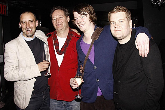 One Man, Two Guvnors Toasts First Broadway Preview – Tom Edden – Richard Bean – Daniel Rigby – James Corden