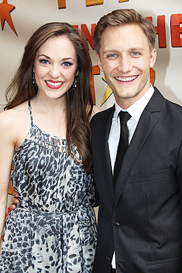 Peter and the Starcatcher Opening Night – Laura Osnes – Nathan Johnson