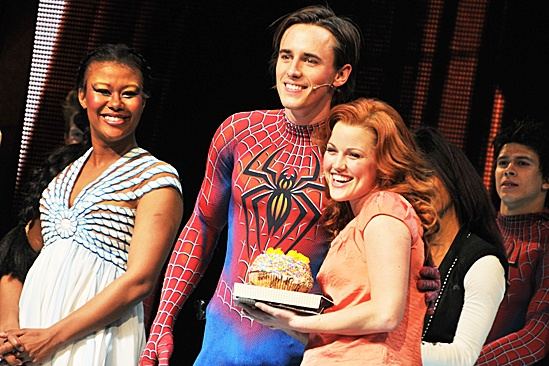 Reeve Carney 29 Birthday at Spider-man – Christina Sajous - Reeve Carney - Rebecca Faulkenberry
