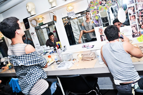 Newsies –Backstage- David Guzman –Jacob Guzman- Tommy Bracco