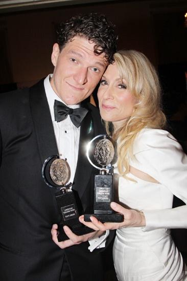 2013 Tony Awards Winner's Circle – Gabriel Ebert - Judith Light