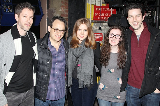 Amy Adams visits First Date - Darren Le Gallo - Michael Weiner - Keeley MacKenzie - Alan Zachary