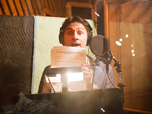 Bullets Over Broadway - Recording Session - OP - 4/14 - Zach Braff