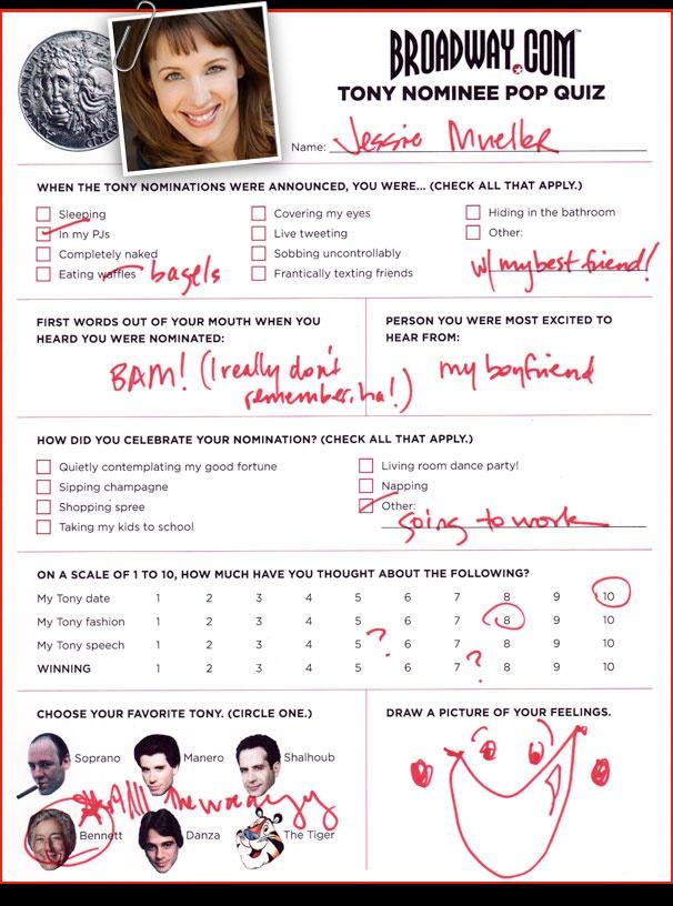 Tony Nominee Pop Quiz - Jessie Mueller