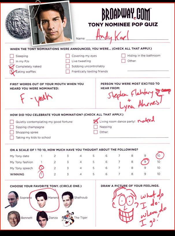 Tony Nominee Pop Quiz - Andy Karl