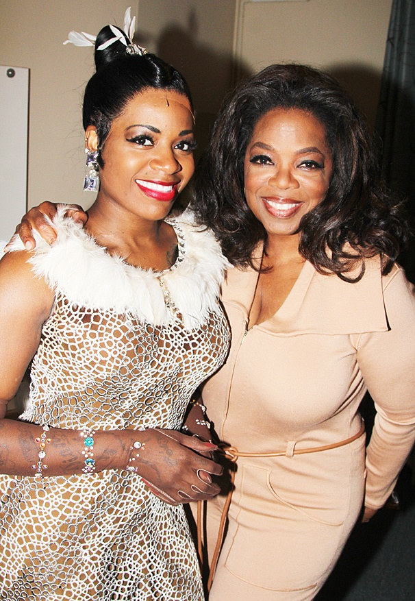 After Midnight - backstage - OP - 5/14 - Fantasia Barrino - Oprah Winfrey