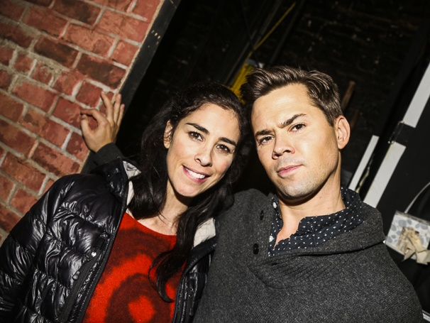 Hamilton - backstage - 10/15 - Sarah Silverman and Andrew Rannells