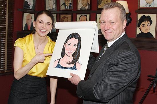 Sutton Foster Honored at Sardi's – Sutton Foster – Max Klimavicius