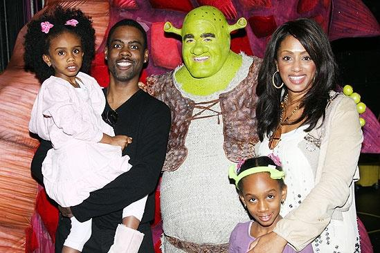 Chris Rock and Family at Shrek the Musical – Chris Rock – Lola Simone – Zahra Savannah – Malaak Compton – Brian d'Arcy James
